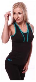 Майка для фитнеса женская Active Age 5.27 p.bm(cup) черная с мятным