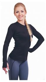 Футболка женская с длинным рукавом Active Age 5.30 p.b черная