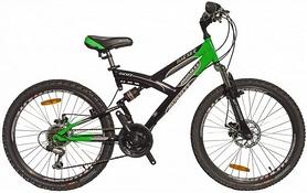 "Велосипед подростковый горный Avanti Hacker Disc 2016 - 24"", рама -16"", зеленый (RA04-828-GRN-K)"