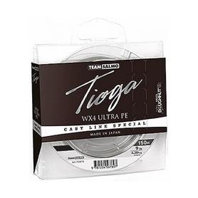 Шнур плетеный Salmo Team Tioga Silver Grey WX4 UltraPE 150м 0,242 мм