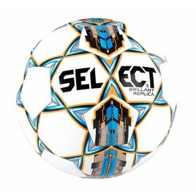 Мяч футбольный Select Brillant Replica 3 белый/синий