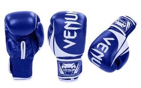 Перчатки боксерские кожаные Venum Challenger BO-5245-B сине-белые