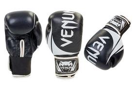 Перчатки боксерские кожаные Venum Challenger BO-5245-BK черно-белые