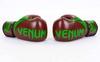 Перчатки боксерские кожаные Venum Challenger BO-5245-BR коричнево-салатовые - фото 3