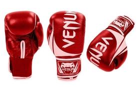 Перчатки боксерские кожаные Venum Challenger BO-5245-R красно-белые