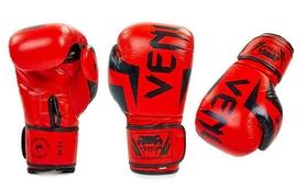 Перчатки боксерские кожаные Venum Elite Neo BO-5238-R красные