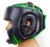 Шлем боксерский Venum Challenger BO-5246-G черно-салатовый - Фото №3
