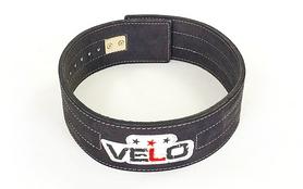 Пояс для пауэрлифтинга с застёжкой-автомат Velo ZB-5785 черный