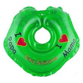 Круг на шею Babyswimmer «Я люблю» зеленый