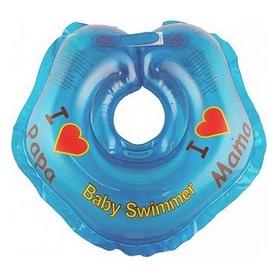 Круг на шею Babyswimmer «Я люблю» синий