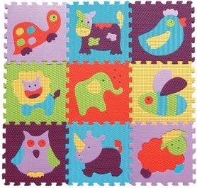 "Коврик-пазл детский Baby Great GB-M129A2 ""Веселый зоопарк"" 92х92 см"