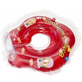 Круг на шею Baby Swimmer KP101029 малиновый с погремушками