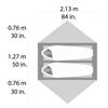 Палатка двухместная Cascade Designs Hubba Hubba NX Tent серая - фото 5