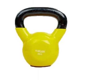 Гиря виниловая TA-5161 8 кг желтая