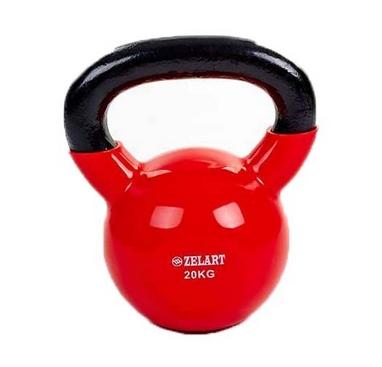 Гиря виниловая TA-5161 20 кг красная