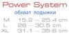 Защита для ног (голеностоп) Power System Neo Ankle Support PS-6013 Black-Red - фото 2