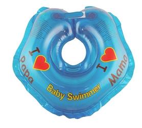 Круг на шею Baby Swimmer KP101040 голубой с погремушками