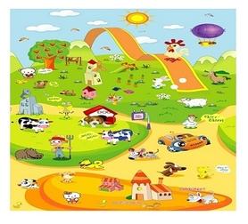 """Коврик детский развивающий Babypol """"Веселая ферма"""" 1500х1800х10 мм"""