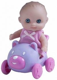 Пупс-малыш JC Toys с машинкой, 13 см