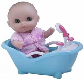 Пупс-малыш JC Toys с ванночкой, 13 см