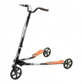 Трайк-самокат трехколесный GO Travel Speeder большой черно-оранжевый