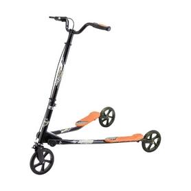 Трайк-самокат трехколесный GO Travel Speeder средний черно-оранжевый