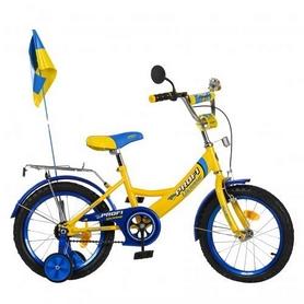 "Велосипед детский Profi Ukraine - 16"", желтый (P 1649 UK-2)"