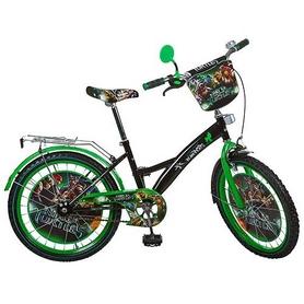 Велосипед детский Profi - 20'', черно-зеленый (TL203)