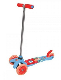 Самокат лицензионный трехколесный Hot Wheels Фиксики