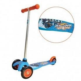 Самокат лицензионный трехколесный Hot Wheels