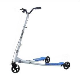 Трайк-самокат трехколесный GO Travel Speeder большой серебристо- голубой