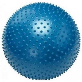 Мяч для фитнеса (фитбол) массажный 55см Body Skulpture голубой