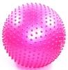 Мяч для фитнеса (фитбол) массажный 55см Body Skulpture розовый - фото 1