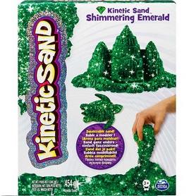 Песок кинетический Kinetic Sand & Kinetic Rock Metallic зеленый 454 г