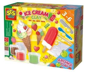 """Масса для лепки незасыхающая Ses """"Мороженое"""" (4 цвета)"""
