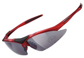 Очки спортивные Exustar CSG05-4IN1, красные
