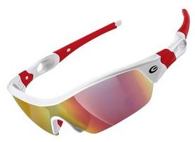 Очки спортивные Exustar CSG09-4IN1, красные