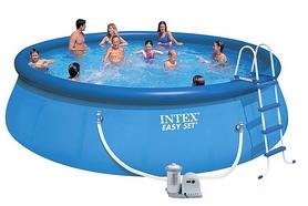 Бассейн надувной Intex 54916 (457х122 см) с фильтрующим насосом и аксессуарами