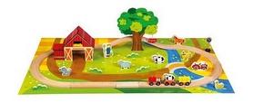 """Набор деревянный Bino """"Железная дорога. Сельская местность"""""""