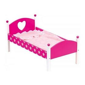 Кроватка для куклы Bino с одеялом