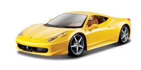 Машинка игрушечная Bburago Ferrari 458 Italia (1:24) желтая