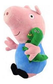 """Игрушка мягкая Peppa """"Джордж с игрушкой"""" 20 см"""