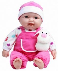 Пупс с собачкой JC Toys мягкий 38 см розовый