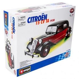 Авто-конструктор Bburago Citroen 15 CV TA (черно-красный, 1:24)