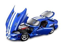 Авто-конструктор Bburago Dodge Viper GTS Coupe (1996) (синий, 1:24)