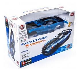 Авто-конструктор Bburago Dodge Viper SRT10 ACR (2008) (голубой металлик, 1:24)