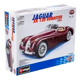 Авто-конструктор Bburago Jaguar XK 120 Roadster (1948) (вишневый, 1:24)