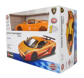 Авто-конструктор Bburago Lamborghini Gallardo Superleggera 2007 (оранжевый металлик, 1:24)