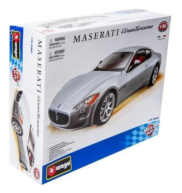 Авто-конструктор Bburago Maserati Gran Turismo (серебристый металлик, 1:24)