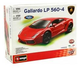 Авто-конструктор Bburago Lamborghini Gallardo LP560-4 (2008) (красный, 1:32)